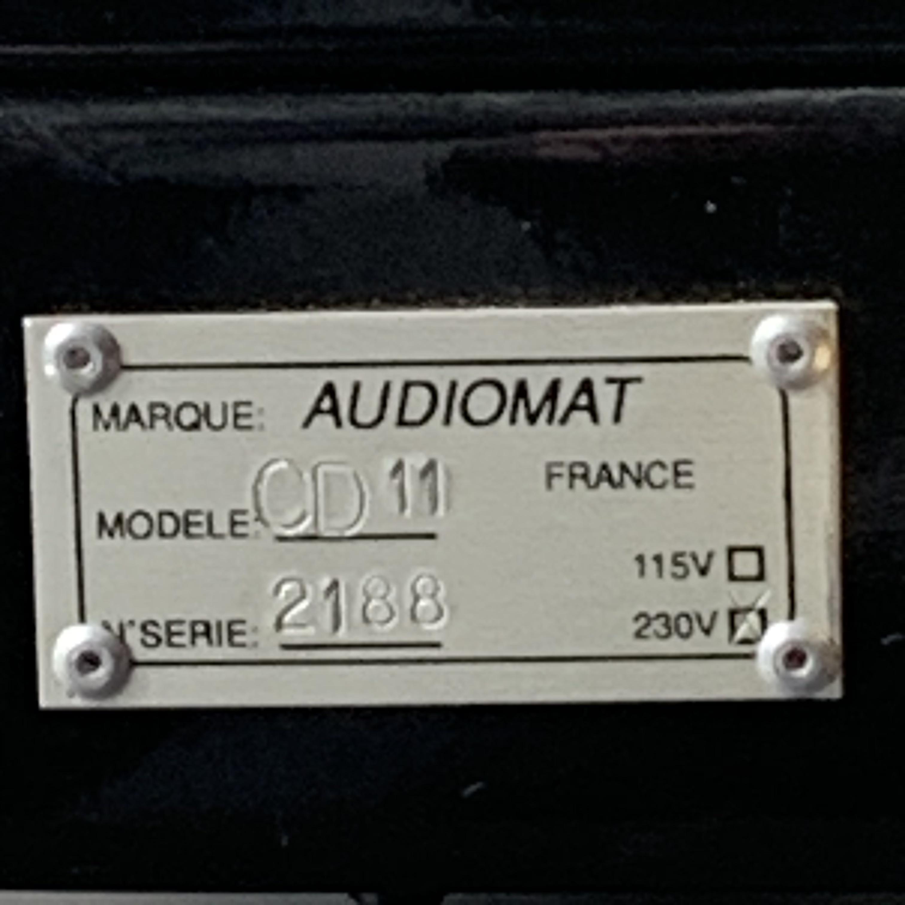 Audiomat model prelude