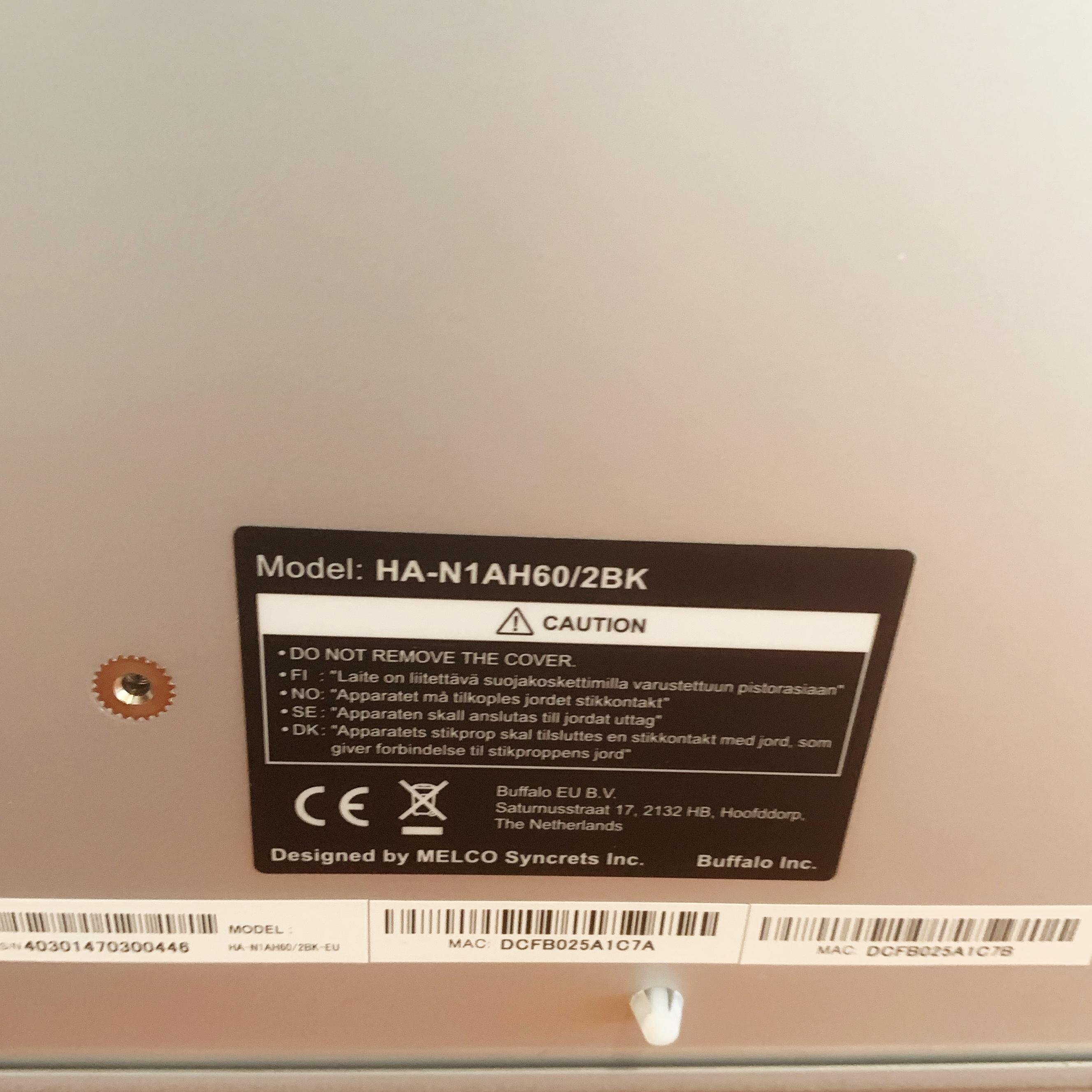 lecteur Réseau MELCO N1AH60/2BK modèle