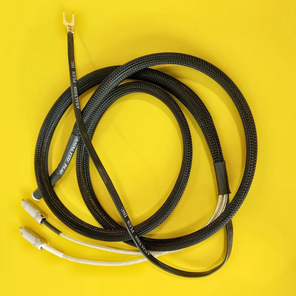 cable phono ANALYSIS + Low Mass Oval phono cable
